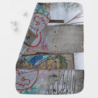 Berlin Wall graffiti art Swaddle Blankets