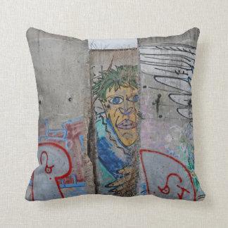 Berlin Wall graffiti art Throw Pillow