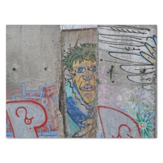 Berlin Wall graffiti art Tissue Paper