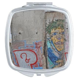 Berlin Wall graffiti art Travel Mirror
