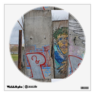 Berlin Wall graffiti art Wall Sticker