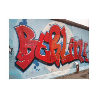 Berlin Wall Graffiti Canvas Print