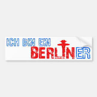 Berliner bumpersticker bumper sticker