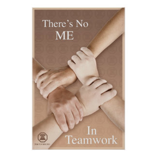 Berm-Tech There is No Me in Teamwork Poster