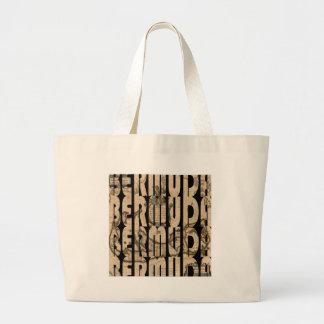 bermuda1662 1 large tote bag