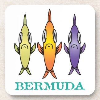Bermuda 3-Fishes Coaster