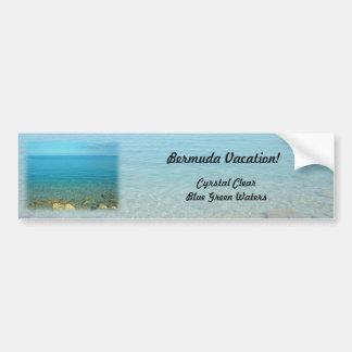 Bermuda Blue Green Waters Car Bumper Sticker