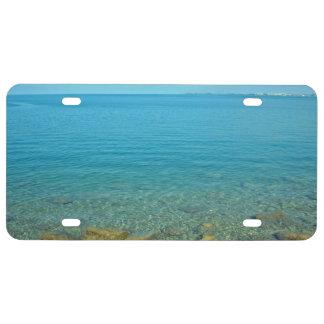 Bermuda Blue Green Waters License Plate