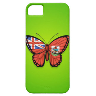 Bermuda Butterfly Flag on Green iPhone 5 Cover