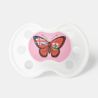 Bermuda Butterfly Flag on Pink Pacifiers