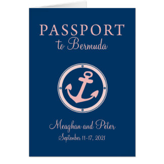 Bermuda Cruise Passport Wedding Invitation