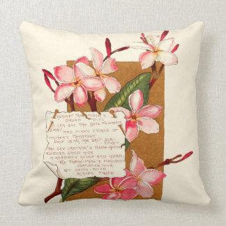 Bermuda Flower Blossoms Poems Islands Caribbean Throw Pillow