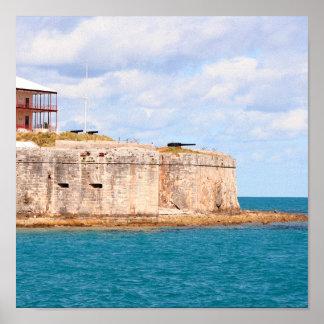 Bermuda Fort print