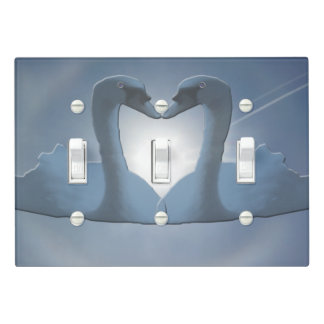 Bermuda Grey Swan Sun's Halo Light Switch Cover