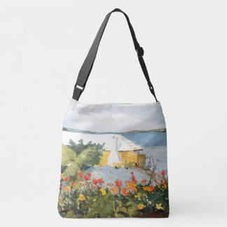 Bermuda Island Flowers Ocean House Tote Bag