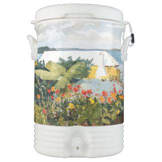 Bermuda Island Ocean Flowers House Igloo Cooler