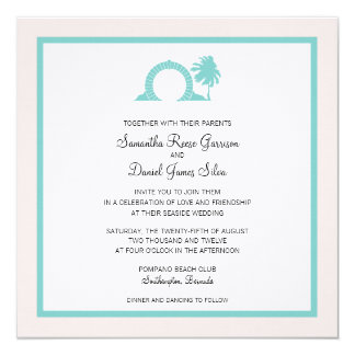Bermuda Moongate Wedding Destination Card