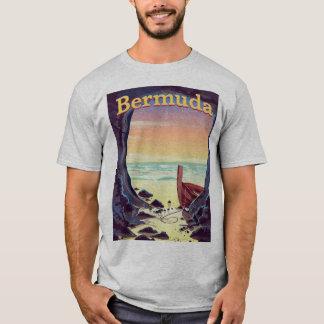 Bermuda Pirate Cave travel poster T-Shirt