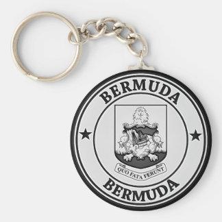 Bermuda Round Emblem Basic Round Button Keychain