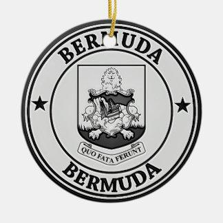 Bermuda Round Emblem Ceramic Ornament