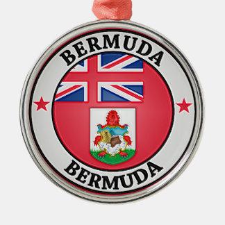 Bermuda Round Emblem Metal Ornament