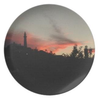 Bermuda Sunset Gibb's Lighthouse Dinner Plates