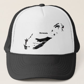 Bermuda Trendy Peace Sign with Bermudian map Trucker Hat
