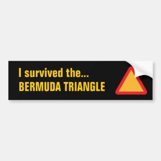 BERMUDA TRIANGLE bumper sticker (black)
