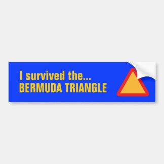 BERMUDA TRIANGLE bumper sticker (blue)