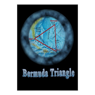 bermuda triangle designs poster