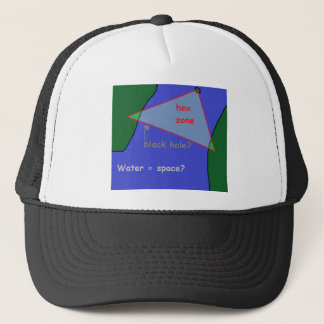 Bermuda triangle: the theory trucker hat