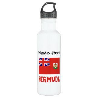 Bermudian Flag Bermuda with Name 710 Ml Water Bottle