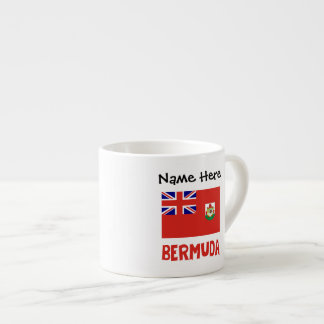 Bermudian Flag Bermuda with Name Espresso Cup