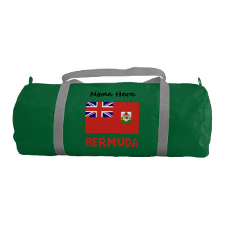 Bermudian Flag Bermuda with Name Gym Bag