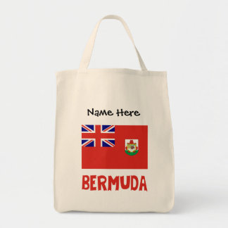 Bermudian Flag Bermuda with Name Tote Bag