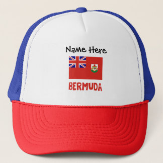 Bermudian Flag Bermuda with Name Trucker Hat
