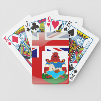 Bermudian glossy flag bicycle playing cards