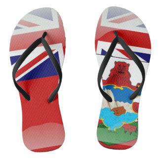 Bermudian glossy flag flip flops