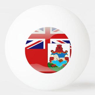 Bermudian glossy flag Ping-Pong ball