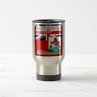 Bermudian glossy flag travel mug
