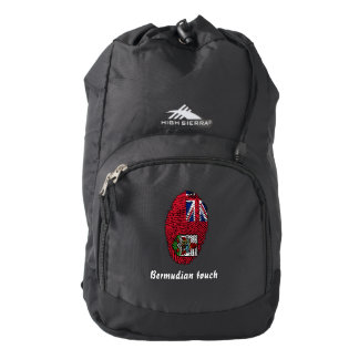 Bermudian touch fingerprint flag backpack