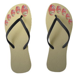 Bermudian touch fingerprint flag flip flops