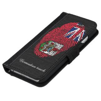 Bermudian touch fingerprint flag iPhone 6 wallet case