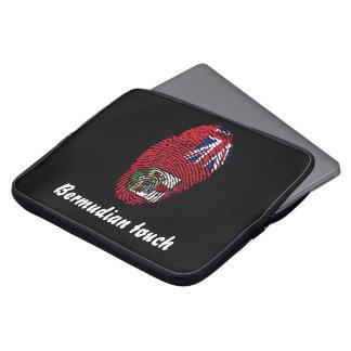 Bermudian touch fingerprint flag laptop sleeve
