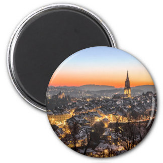 bern city view Christmas time Magnet