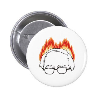 Bern on Fire - Bernie Sanders for President -.png 2 Inch Round Button