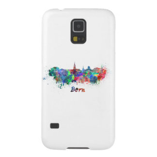 Bern skyline in watercolor galaxy s5 cover