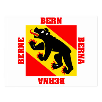 Bern Switzerland Canton Flag Post Card