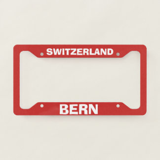 Bern Switzerland License Plate Frame