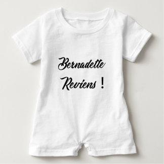 Bernadette return baby romper